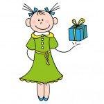 pige-med-foedselsdagsgave