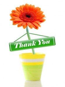 Sig tak med blomster