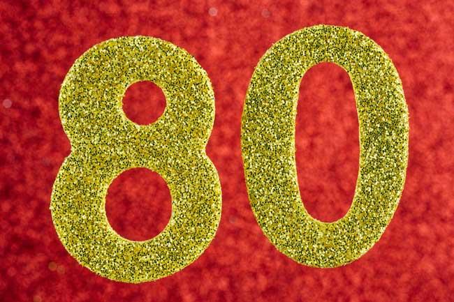 Ideer til en 80 års fødselsdag