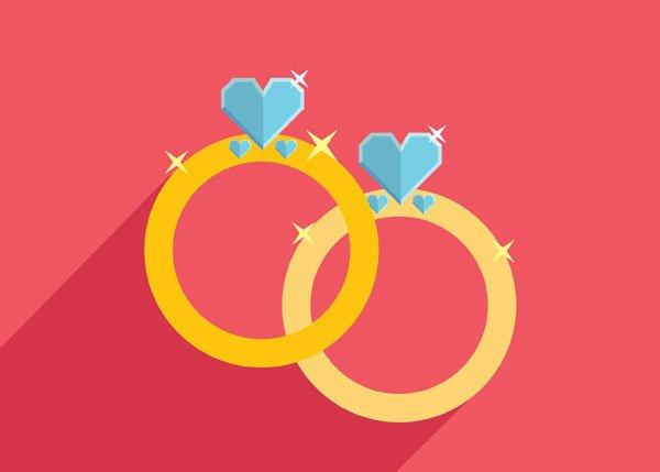 Bare ut Bryllupskort tekst - Sådan skriver du en hilsen til brudeparret WE-04
